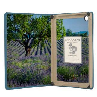 Lone tree in purple field of lavender iPad mini case