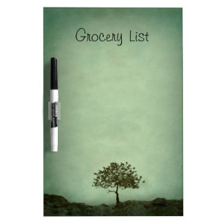 Lone Tree on Sea Green Grocery List Dry-Erase Boards