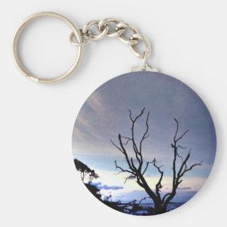 Lone Tree on Shore Keychain