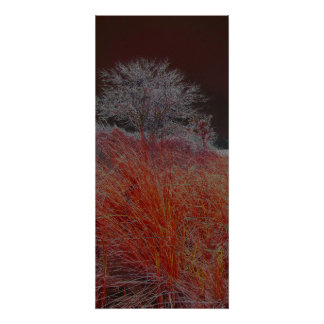 lone tree - red poster