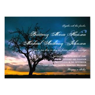 Lone Tree Sunset Country Wedding Invitations