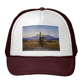 Lone Tree (Village Landscape In Morning Light ) Trucker Hat