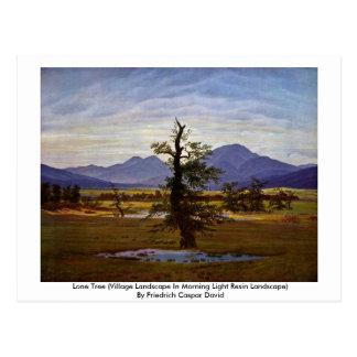 Lone Tree (Village Landscape In Morning Light ) Post Card