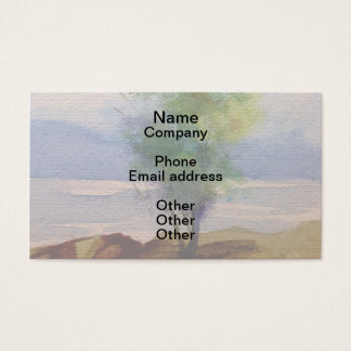 LONE TREE WATERCOLOR BUSINESS CARD