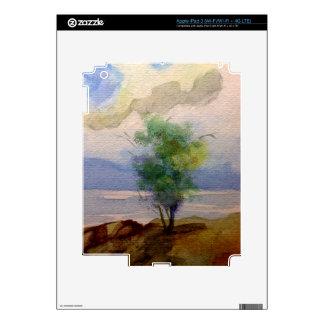 LONE TREE WATERCOLOR iPad 3 SKINS