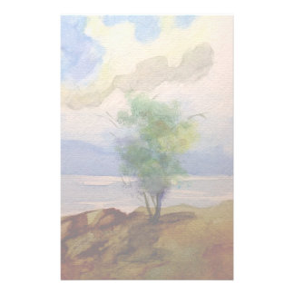 LONE TREE WATERCOLOR CUSTOMIZED STATIONERY