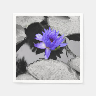 Lone Water Lily Paper Napkin