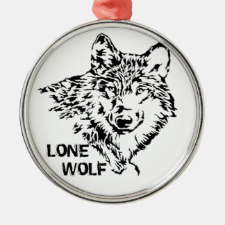 Lone Wolf 2 Metal Ornament