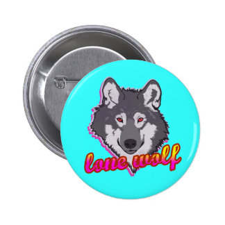 Lone Wolf, 80's style! Pinback Button