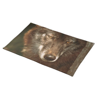 Lone wolf American MoJo Placemat Cloth Placemat