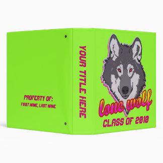 Lone Wolf Class School Binder