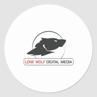 Lone Wolf Digital Media Logo Gear Classic Round Sticker