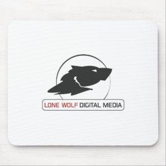 Lone Wolf Digital Media Logo Gear Mouse Pad