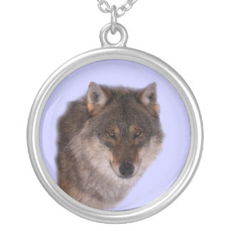 Lone Wolf Face Necklace