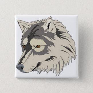 Lone Wolf Head Button