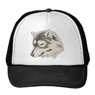 Lone Wolf Head Trucker Hat