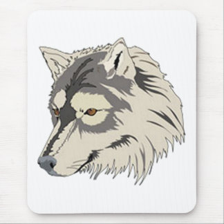 Lone Wolf Head Mouse Pad