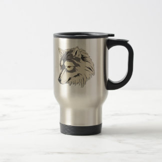 Lone Wolf Head Travel Mug
