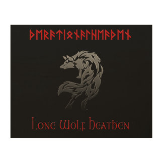 Lone Wolf Heathen Rational Heathen Wood Wall Art