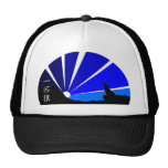 Lone wolf kanji design trucker hat