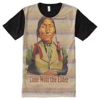 Lone Wolf Kiowa Chief All-Over Printed Panel Tee