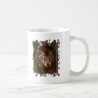 Lone wolf classic white coffee mug
