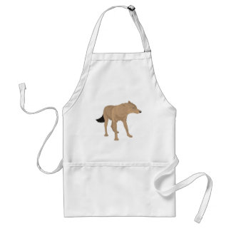 Lone Wolf -Mystery Canine! Adult Apron