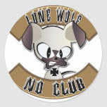 Lone Wolf No Club Stickers