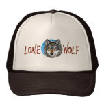Lone Wolf Painting Mesh Hat