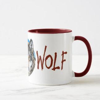 Lone Wolf Painting Mug