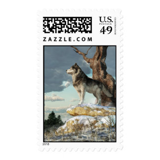 Lone Wolf Postage Stamp