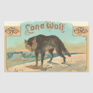 Lone Wolf Rectangular Sticker