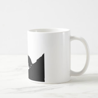 Lone Wolf Standing on a Hill Coffee Mug