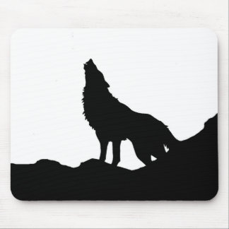 Lone Wolf Standing on a Hill Mouse Pad