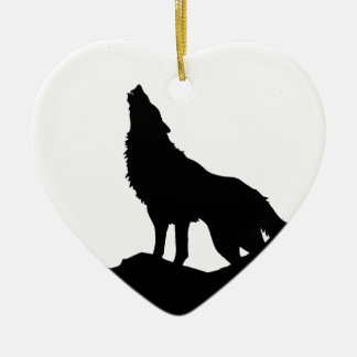 Lone Wolf Standing on a Hill Ornament