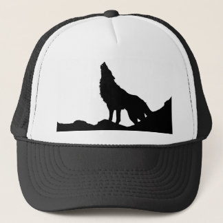 Lone Wolf Standing on a Hill Trucker Hat