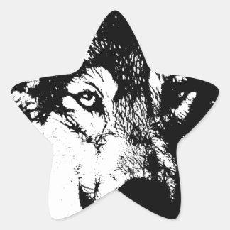Lone Wolf Star Sticker
