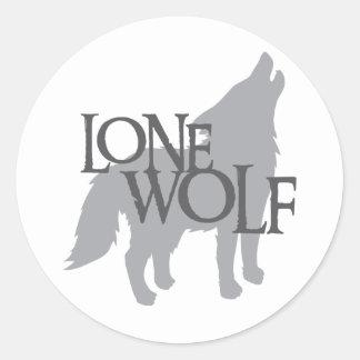 LONE WOLF ROUND STICKERS