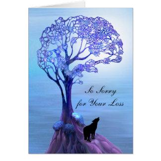 Lone Wolf Sympathy Card