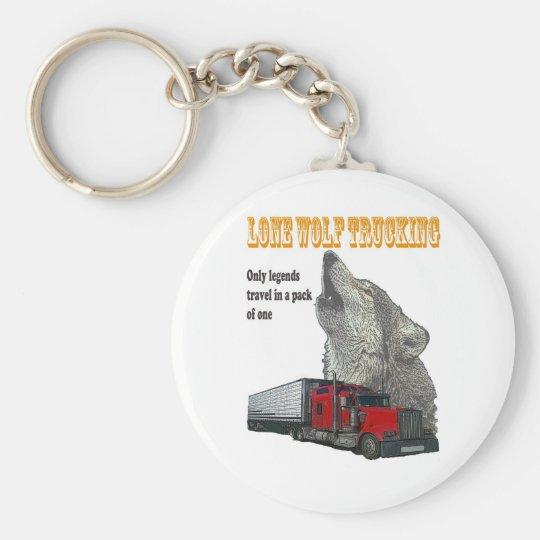 Lone Wolf Trucking Keychain