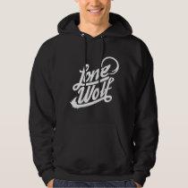 Lone Wolf Typographic Hoody