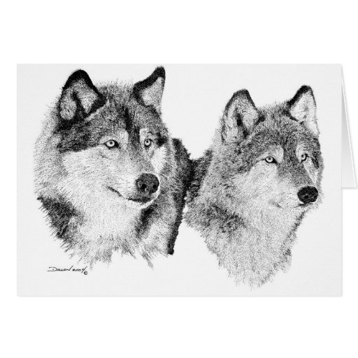 Lone Wolves Greeting Card