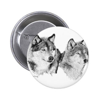 Lone Wolves Pinback Button