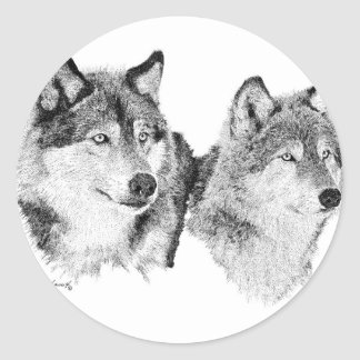 Lone Wolves Classic Round Sticker