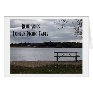 """LONELY AND BLUE WITHOUT """"YOU!"""" MISS YOU CARD"""