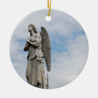 lonely angel ceramic ornament