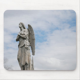 lonely angel mouse pad