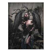 Lonely Angel Postcard