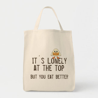 Lonely at the Top Canvas Bag