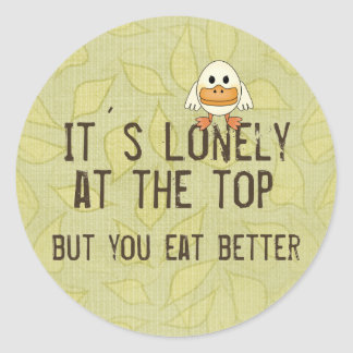 Lonely at the Top Classic Round Sticker